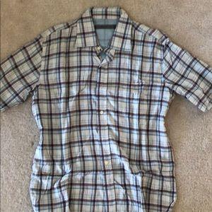 Giiordano mens short sleeve shirt large